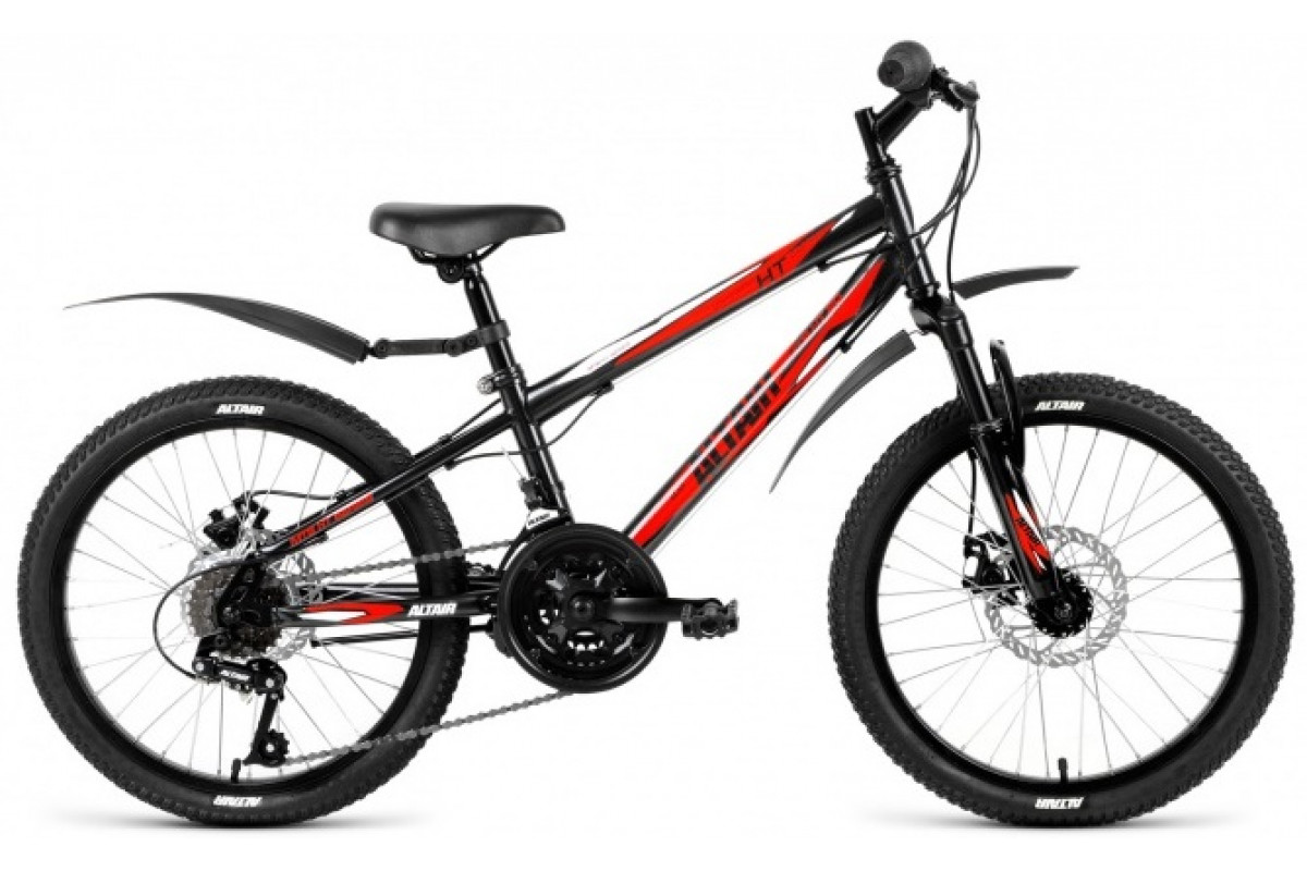 """Велосипед 20"""" Altair MTB HT 20 3.0 Disc 18 ск 17-18 г 10.5' Черный RBKN81N0P002"""