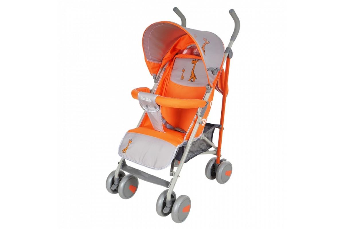 BamBola W807C Мишки - прогулочная коляска-трость без чехла. жираф оранжевый