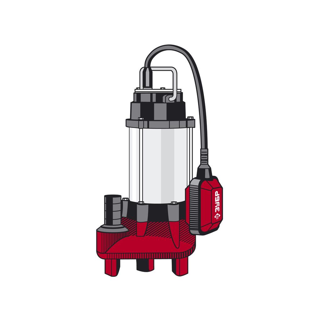 Насос ЗУБР НПФ-250  фекальный погружной 250Вт пропускная способность 150 л/мин напор 7.5м чугунн