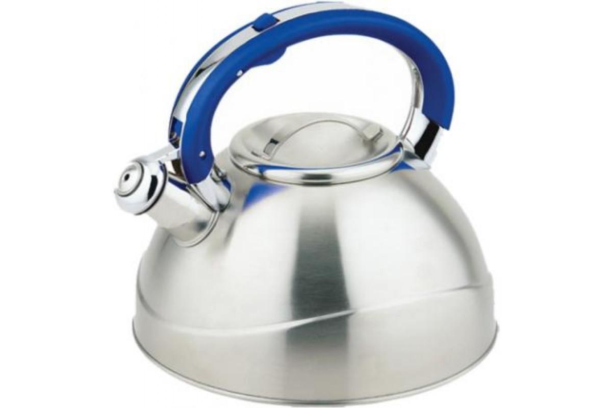 Чайник TECO TC-109-B (3,0л,со свистком нерж.стали,c капсульным дном,с силиконовой цветной руч)