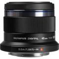 Объектив Olympus M.Zuiko Digital 45mm f/1.8, черный (