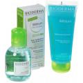 Bioderma Sebium набор: Mat контроль + мицеллярная вода 100мл + очищ гель 100мл