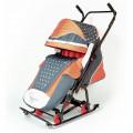 Скользяшки Мозаика - Санки-коляска, серо-оранжевый