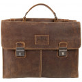 Портфель Klondike Native, коричневый, 40х11х31 см