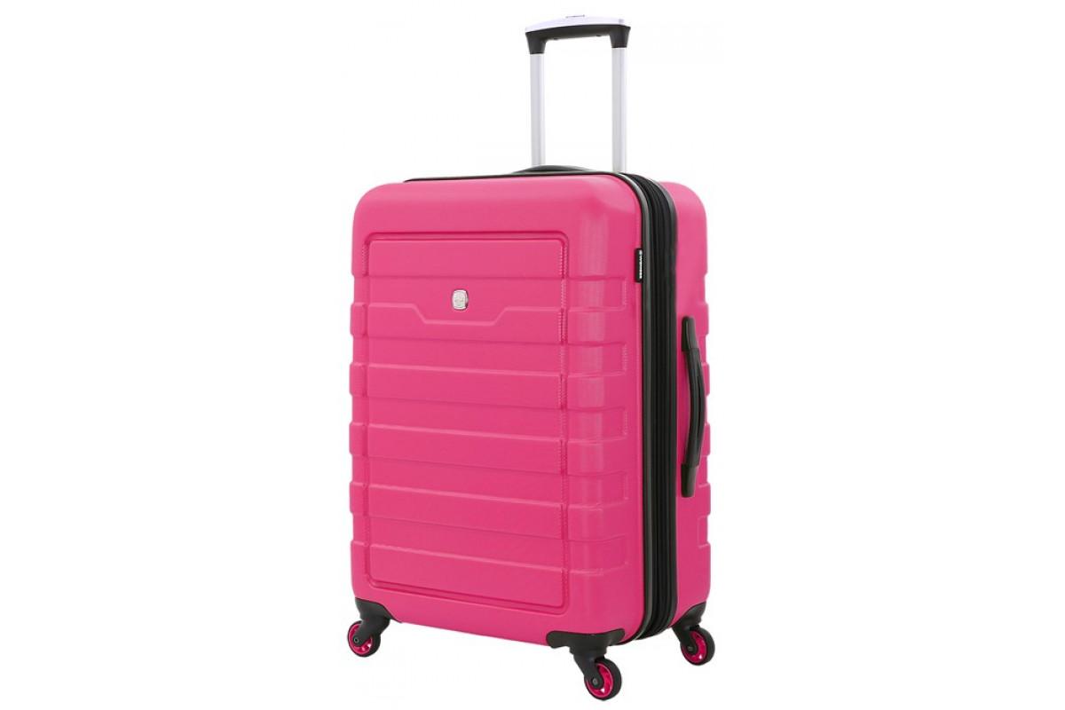 Чемодан WENGER TRESA, розовый, АБС-пластик, 46x27x66 см, 66 л , 6581838165