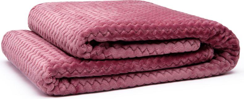 Плед GoodNight Велсофт 180х200, розовый