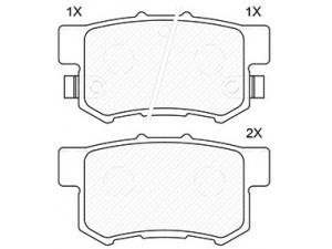 Колодки тормозные задние TRW  GDB3175 для HONDA ACCORD/CIVIC