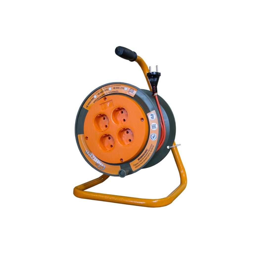 Удлинитель силовой на катушке 4 гн. ПВС 2х0,75 арт. ЕВ-20-002