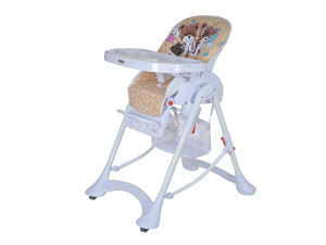Pituso Sol - стульчик для кормления Мишки, беж, белый