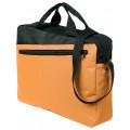 Конференц-сумка Unit Diagonal, оранжево-черная