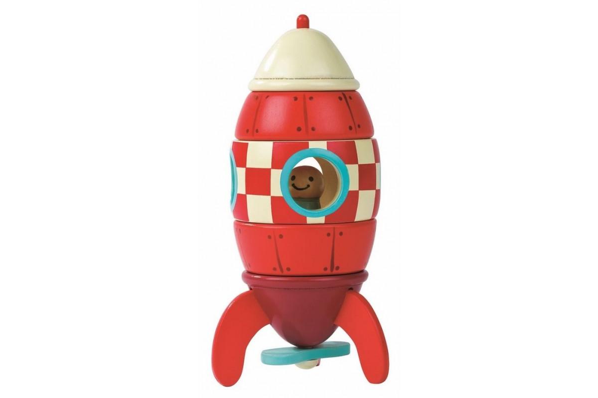 Janod Конструктор магнитный Ракета