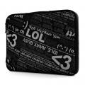 "Чехол для ноутбука 15.4"" G-Cube GNCR-715B, черный, серия «Chat Room»"