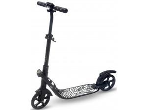 Самокат взрослый INDIGO COMFORT до 100 кг, колеса 200 мм, IN053, Черный,
