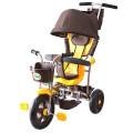 Galaxy RT Лучик-1 - трехколесный велосипед-коляска коричнево-желтый