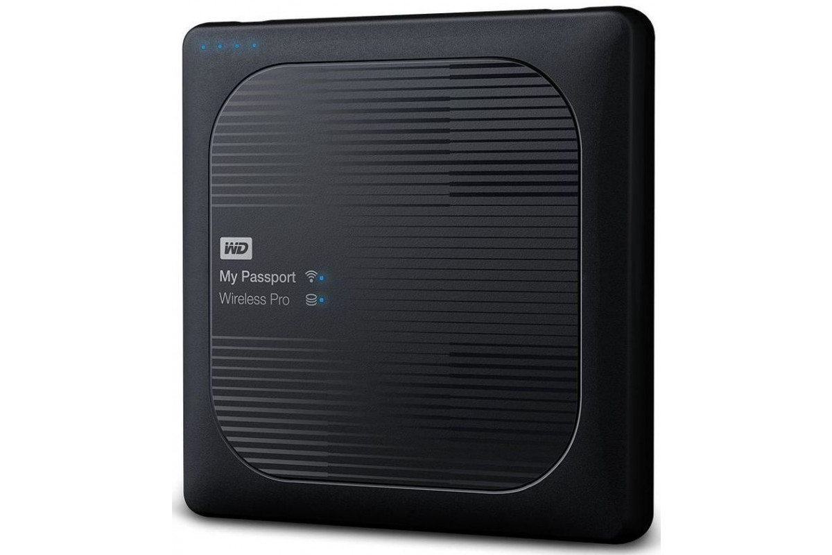 "Внешний жесткий диск WD My Passport Wireless Pro WDBSMT0040BBK-RESN 4ТБ 2,5"" 5400RPM USB 3.0/WiFi External"