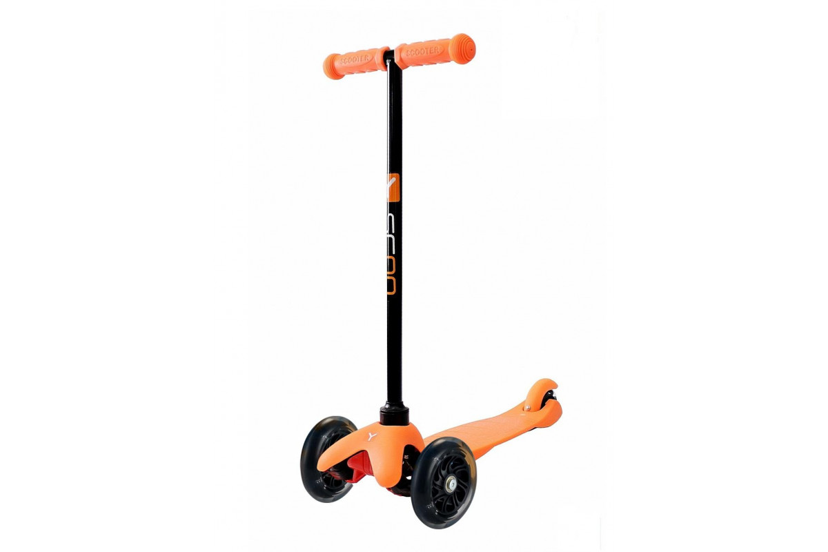 Y-Scoo RT Mini Shine A5 - детский самокат. оранжевый со светящими колесами