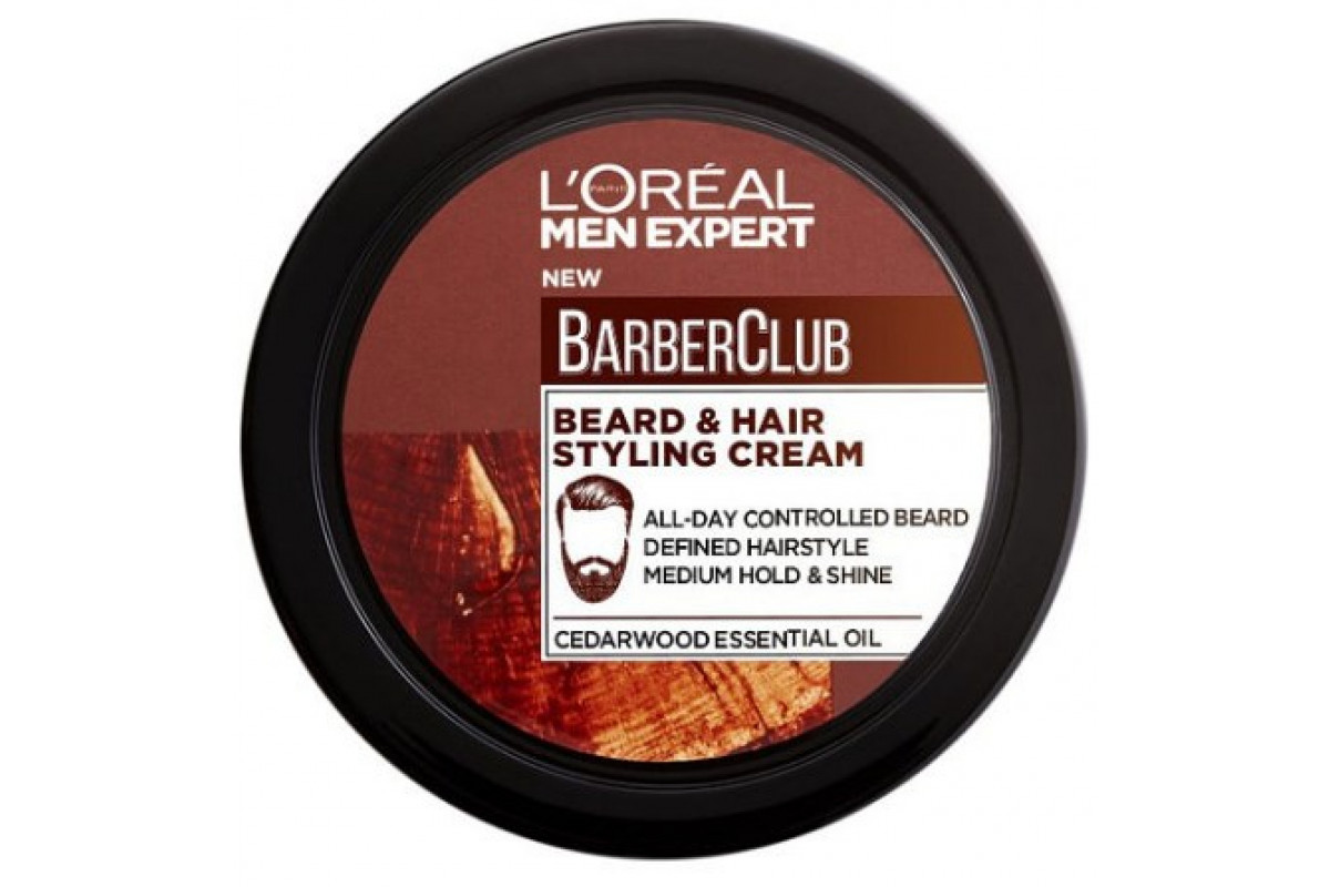 L'Oreal Men Expert Барбер Клаб Крем стайлинг для бороды и волос 75мл