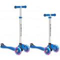 Y-Scoo Globber Primo Plus - детский самокат со светящимися колесами Dark синий