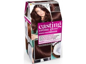 L'Oreal СASTING CREME GLOSS Крем-краска для волос тон 323 черный шоколад