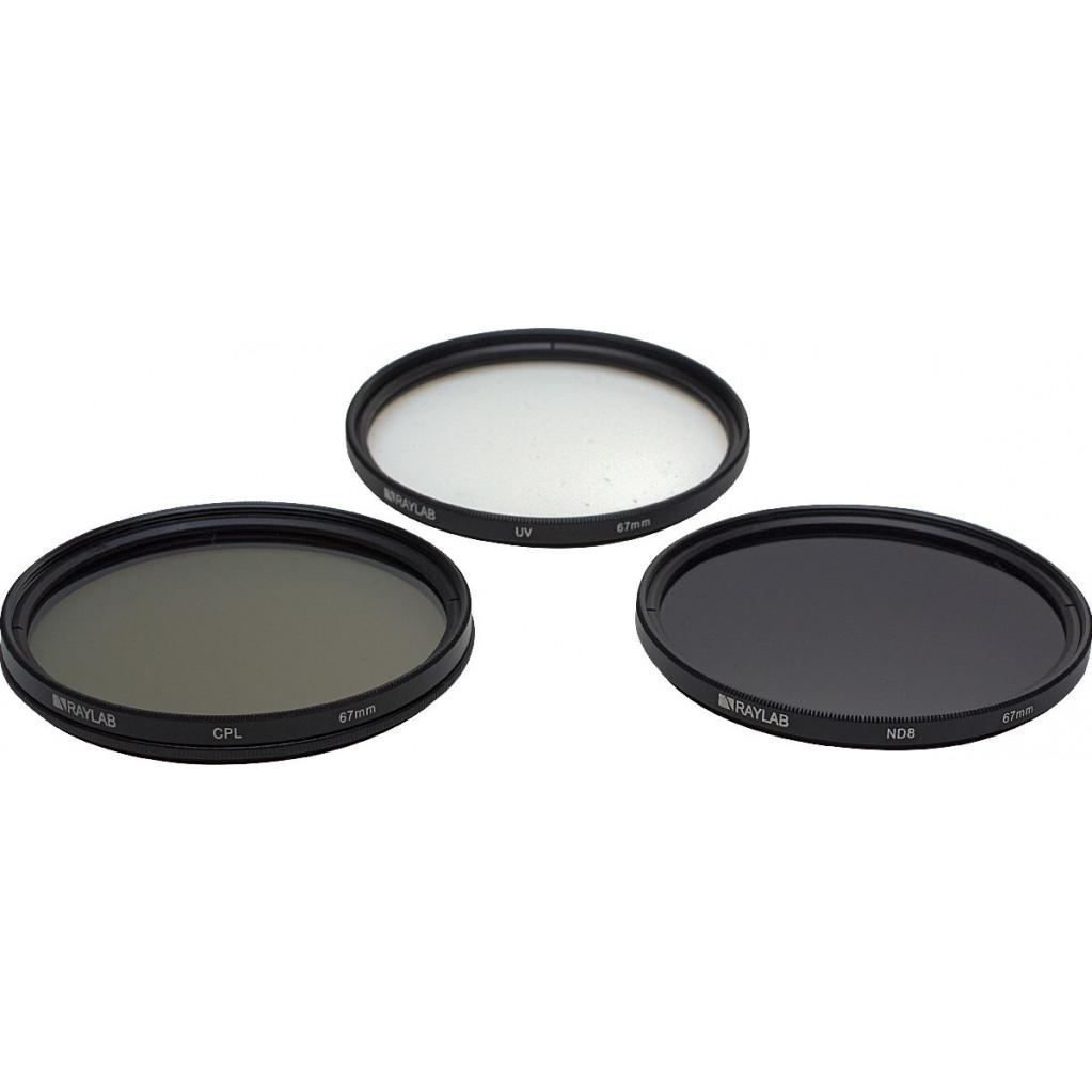 Набор из 3 фильтров RayLab (UV,CPL,ND8) 67mm