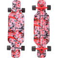 "Y-Scoo Longboard Shark TIR 31"" - скейтборд с сумкой CHAOS Red-black"