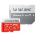 Карта памяти Samsung EVO PLUS microSDXC 256Gb Class 10 UHS-I (100/90MB/s) + адаптер