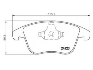 Колодки тормозные передние TEXTAR 2412301 для FORD/ VOLVO / LAND ROVER