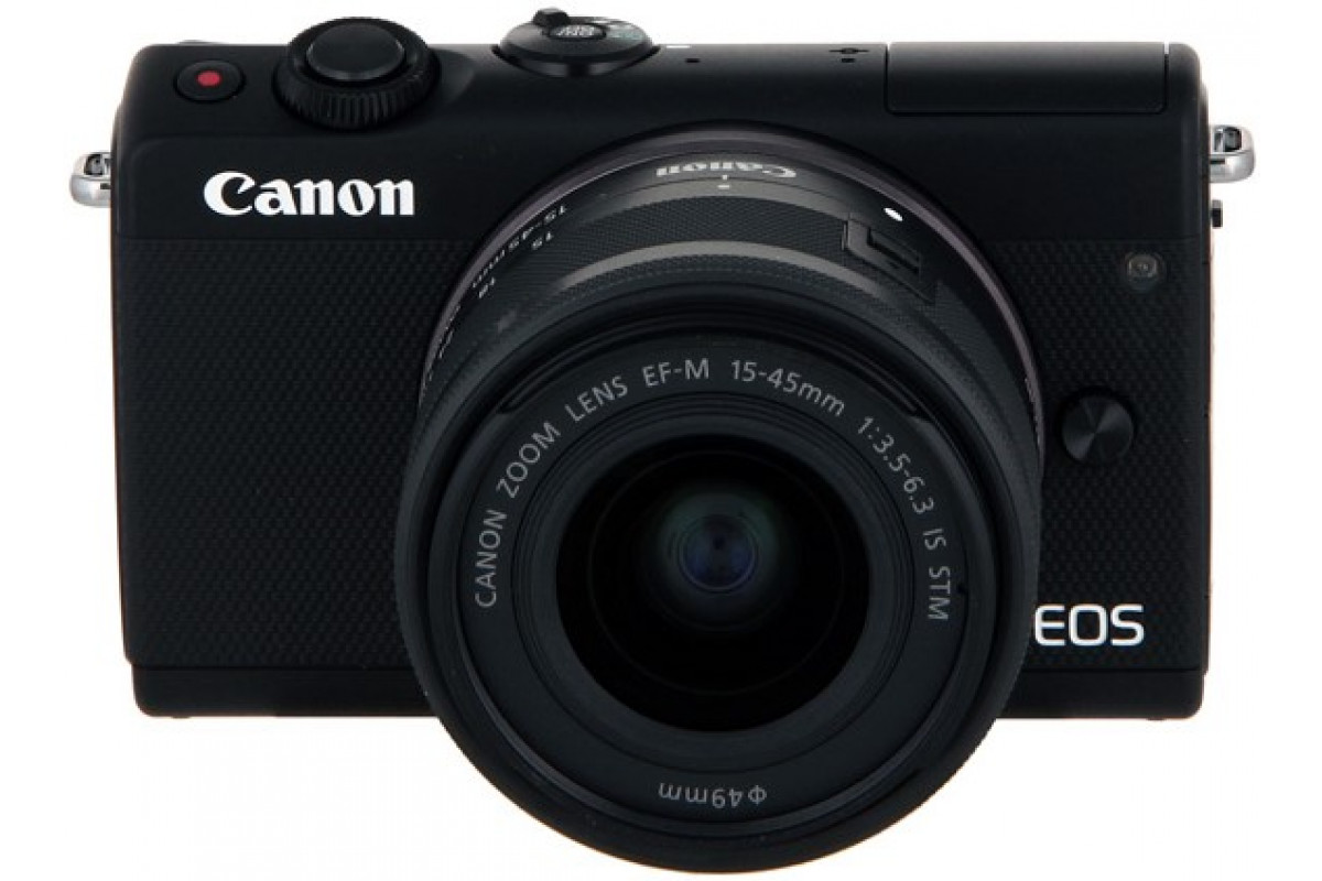 Беззеркальный фотоаппарат Canon EOS M100 kit EF-M 15-45mm f/3.5-6.3 IS STM черный