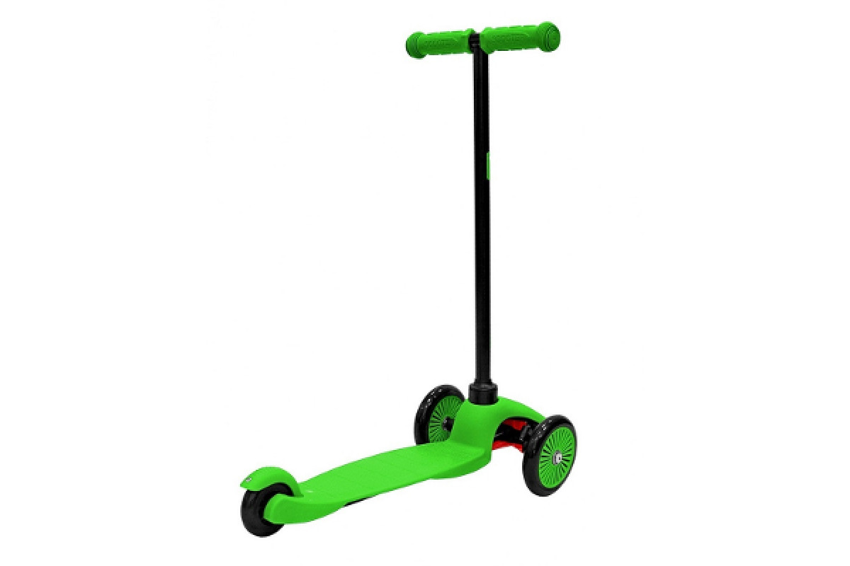 Y-Scoo RT Mini Simple A5 - детский самокат зеленый с цветными колесами