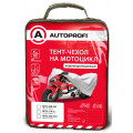 Тент-чехол на мотоцикл AUTOPROFI, водонепроницаемый, 210х83х125 см., разм. L, 1/20