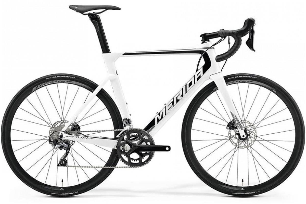 Велосипед Merida REACTO Disc-5000 PearlWhite Black (Grey) 2019 ML(54см)(81171)