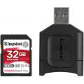 Карта памяти Kingston SDHC Canvas React Plus Class 10 UHS-II U3 (300/260MB/s) 32GB + USB Reader