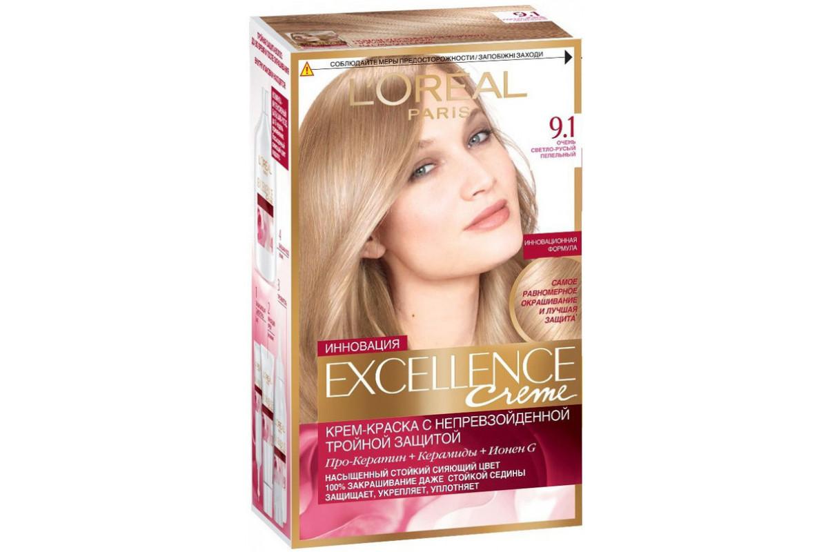 L'Oreal Excellence Краска для волос тон 9.1 очень светло-русый пепельный
