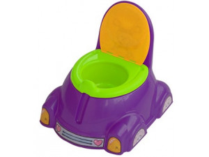 Marian Plast Горшок детский с крышкой (фиолетовый, зеленый, оранжевый) 531