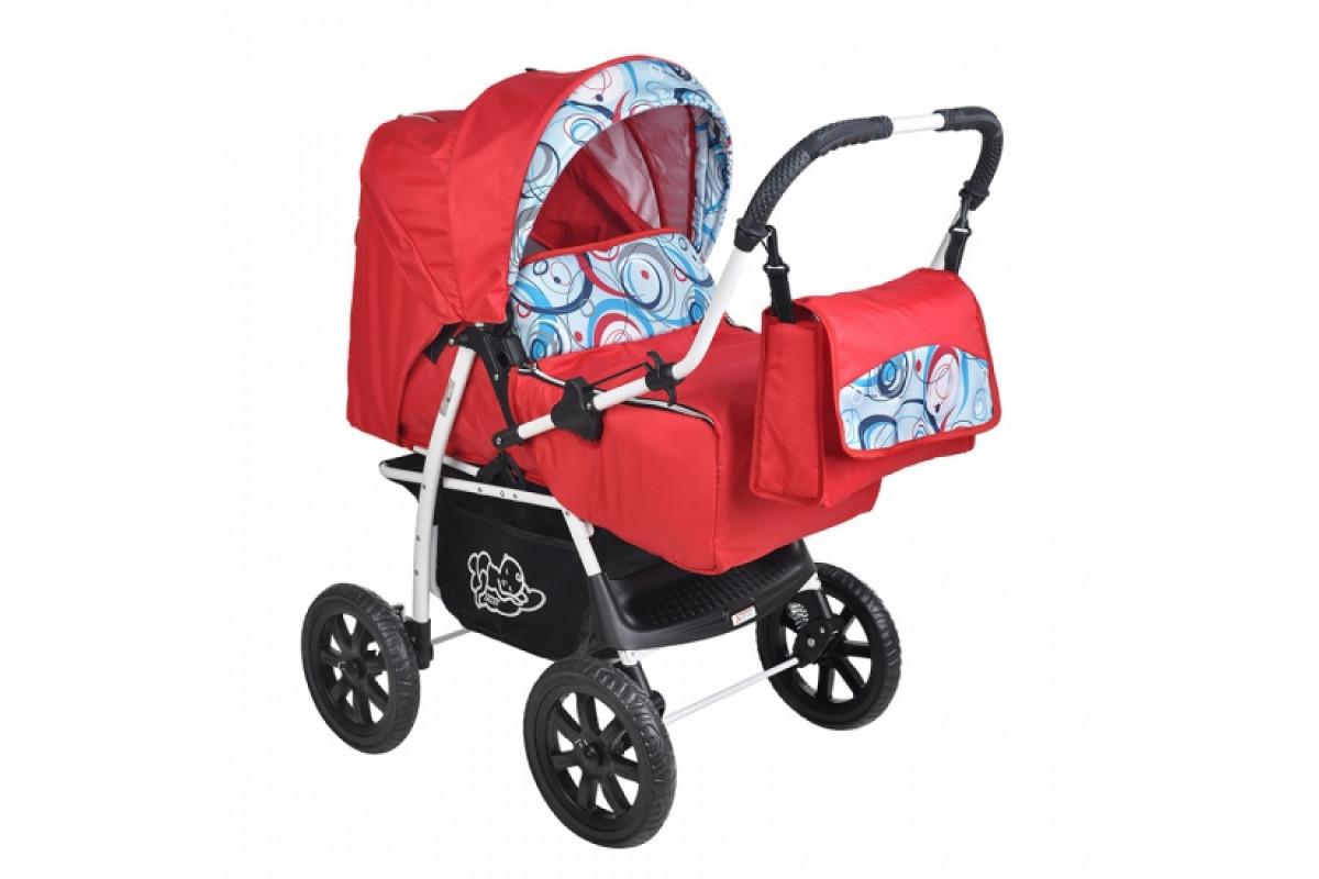 Sojan Economy - коляска-транформер красная ленточки