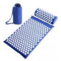 Набор: коврик и валик для акупунктуры CleverCare, цвет синий