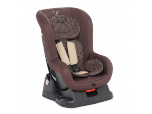 Lider Kids Rally - детское автокресло 0-18 кг Zuma коричневый (коричневый принт)