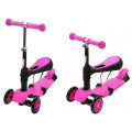 Y-Bike Glider Seat - детский самокат Pink