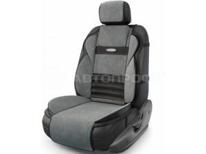 Ортопедическая накидка AUTOPRIFI на сиденье Multi Comfort, MLT-320 BK/D.GY, анатомическая, 6 упоров, 3 предмета, материал велюр, чёрн./т.серый