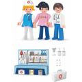Игровой набор Efko Больница 3 фигурки 8 см с аксессуарами