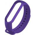Ремешок силиконовый для Mi Band 5/6, фиолетовый