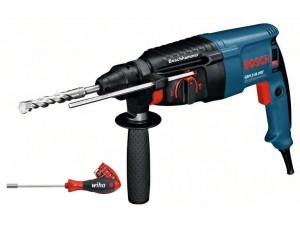 Перфоратор Bosch GBH 2-26 + Wiha screwdriver (0.615.990.K00)  800Вт 2.7Дж SDS+