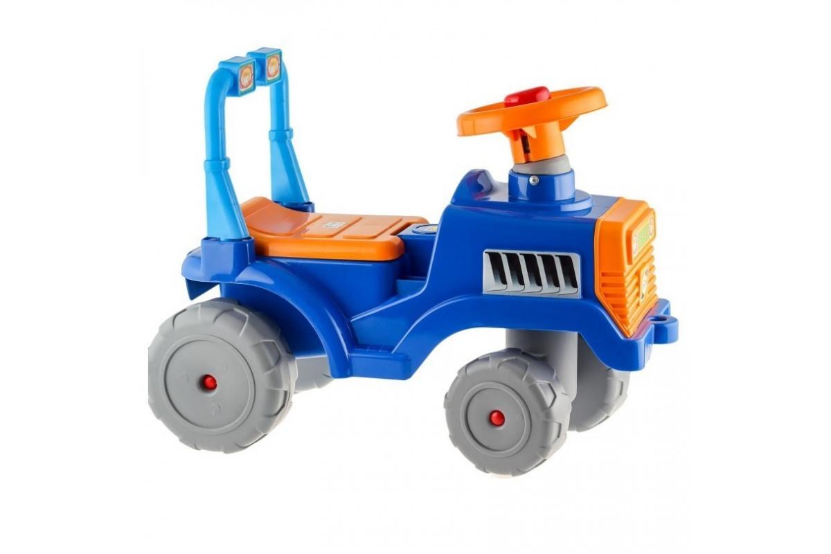 Каталка Трактор RT В сине-оранжевый