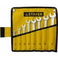 Набор комбинированных гаечных ключей STAYER 8 шт, 6 - 17 мм
