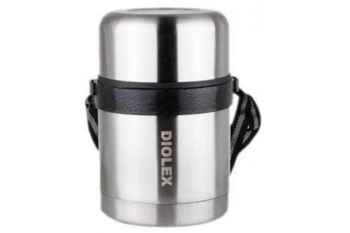Термос суповой Diolex DXF-1000-1 (из нержавеющей стали с широким горлом 1000мл,ремешок в комп)