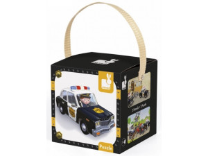 Janod Набор пазлов Брайс-полицейский в коробке: 2 пазла