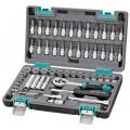 Набор инструментов Stels 14101  1/4'' CrV пластиковый кейс 57 пр.