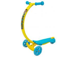 Zycom Zipster - самокат с изогнутой ручкой и светящимися колесами обезьянка