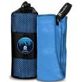 Полотенце спортивное охлаждающее RoadLike Camp 70*140 см синий