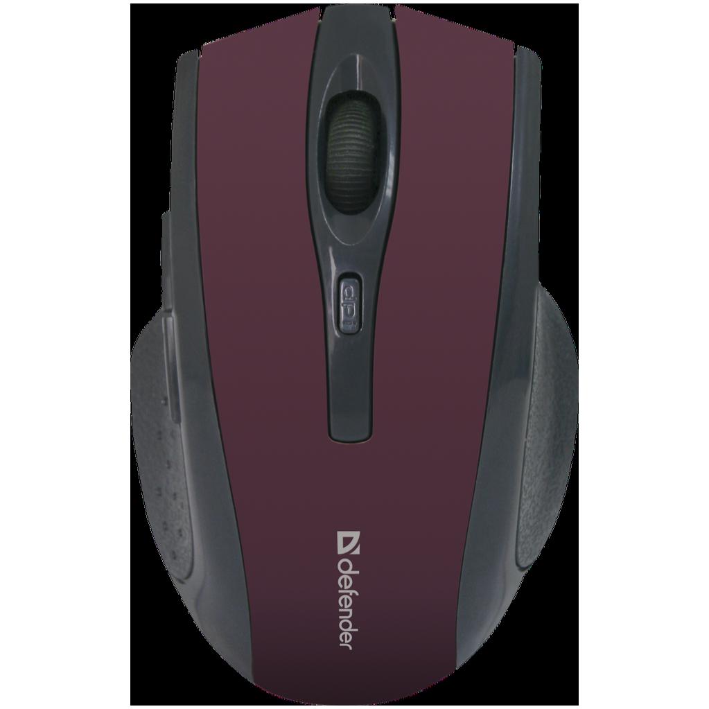 Беспроводная оптическая мышь Defender Accura MM-665 красный,6 кнопок, 800-1600 dpi